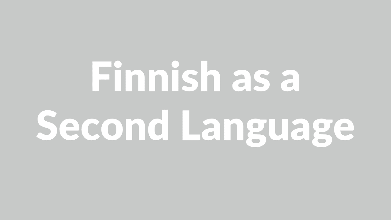 Finnish as a 2. language