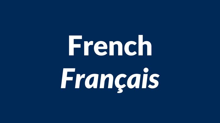 French language, français