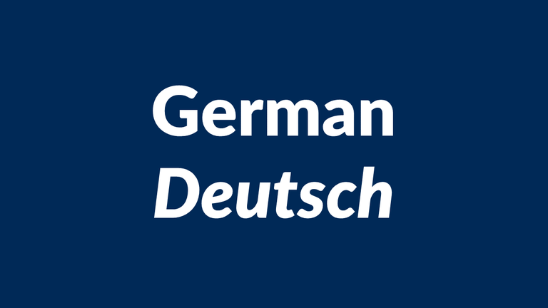 German, Deutsch
