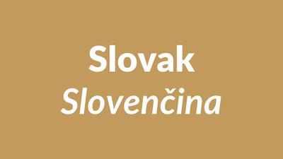 Slovak language, slovenský