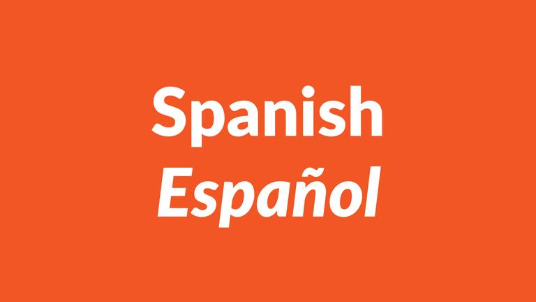 Spanish language, español