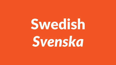Swedish Language – svenska språket