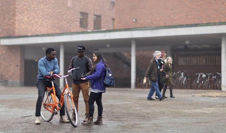kevät opiskelijat ja polkupyörä2 Iida Liimatainen Iida Liimatainen.jpg