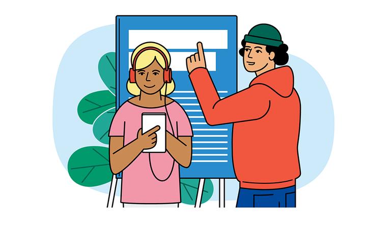 Kuvituskuva: kuunteleminen