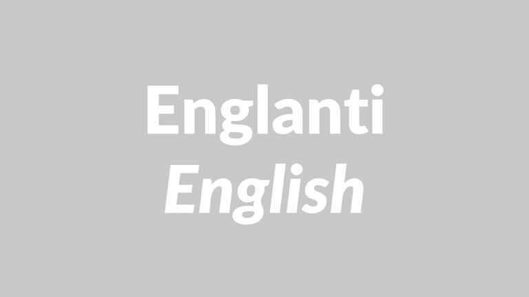 englanti, English