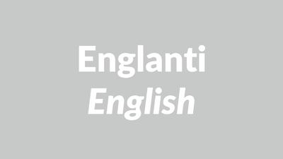 englanti, englannin kieli, English