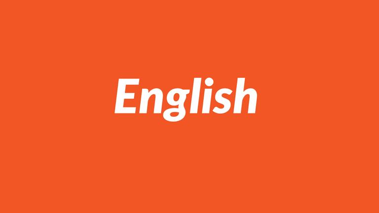 English, English language