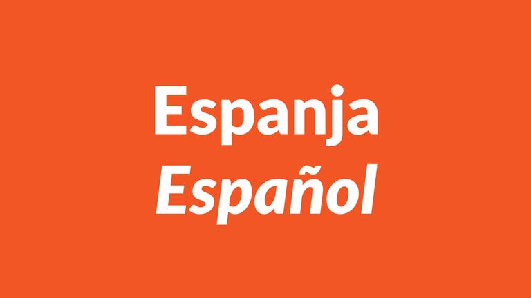 espanja, español