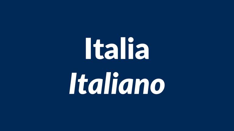 italia, italiano