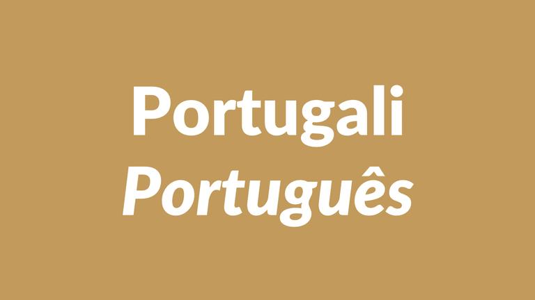 portugali, portugalin kieli