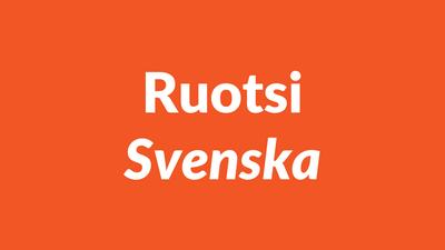 ruotsi, ruotsin kieli, svenska språket