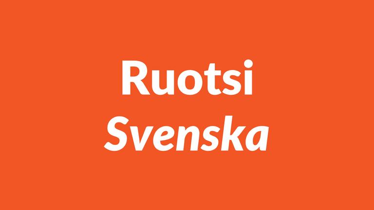 ruotsi, svenska