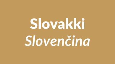 slovakki, slovakin kieli, slovenský
