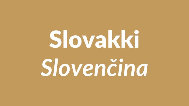slovakki, slovenský