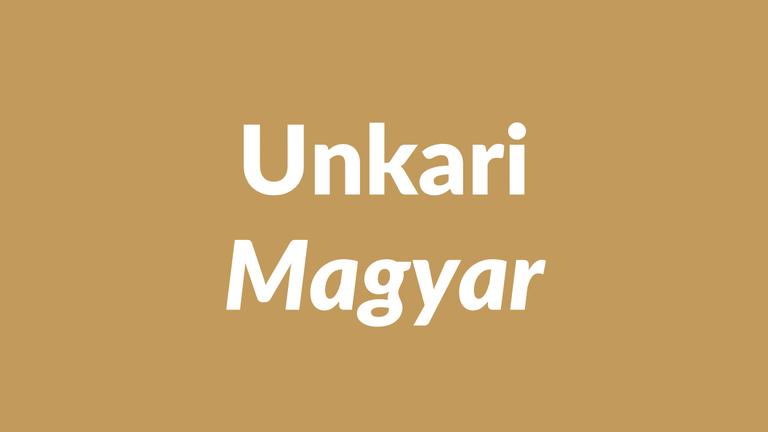 unkarin kieli